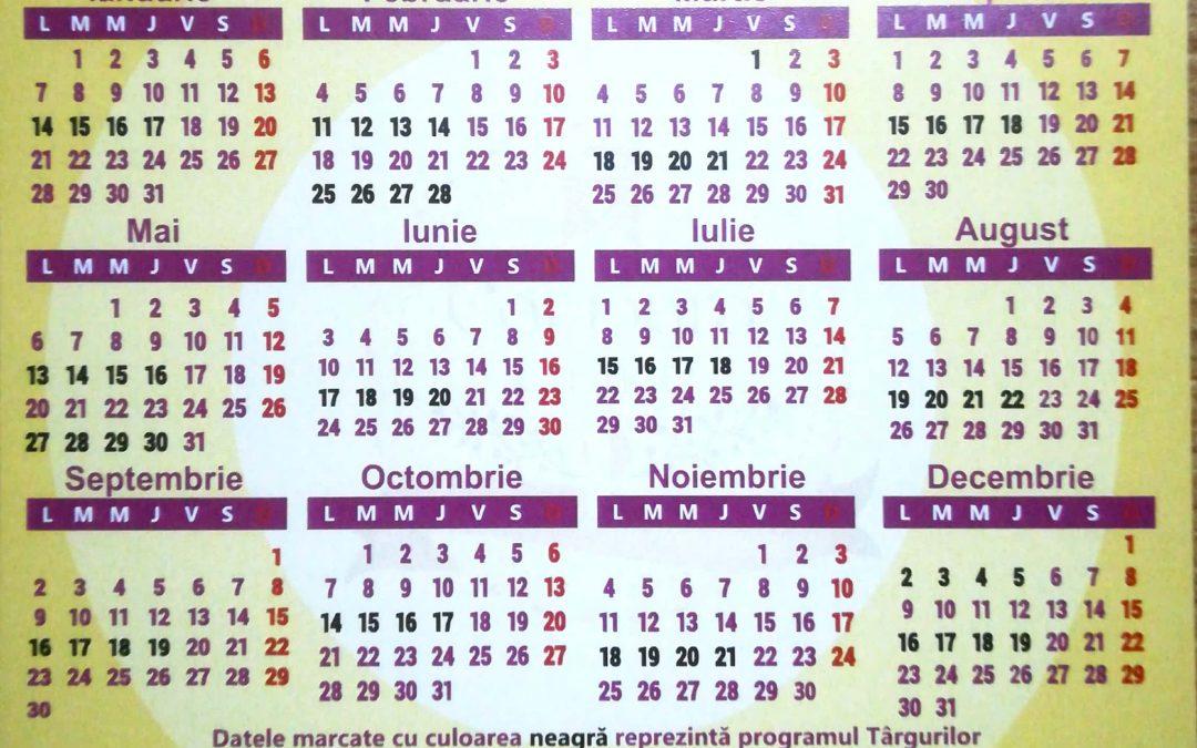 Calendar targuri Mures Mall 2019